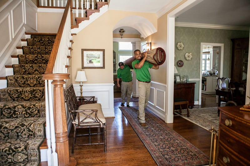 Image of Carpet Keepers professional flooring and rug cleaning in motion