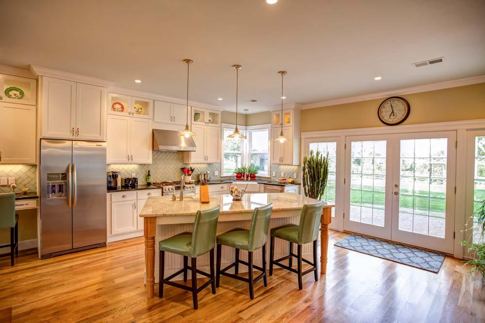 modern kitchen with pale-yellow theme
