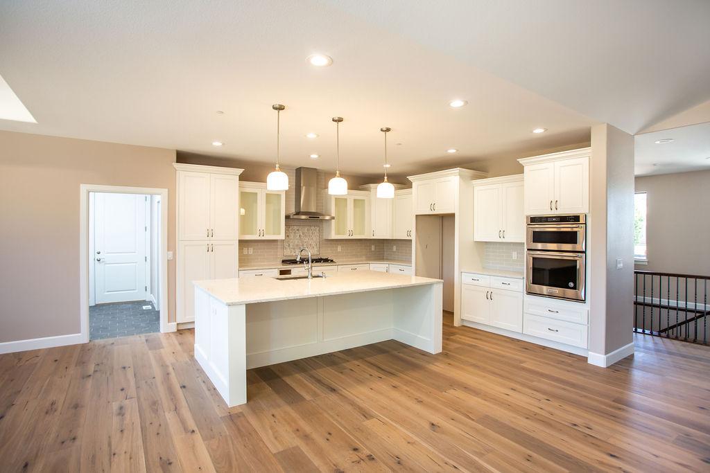 spacious modern kitchen with island