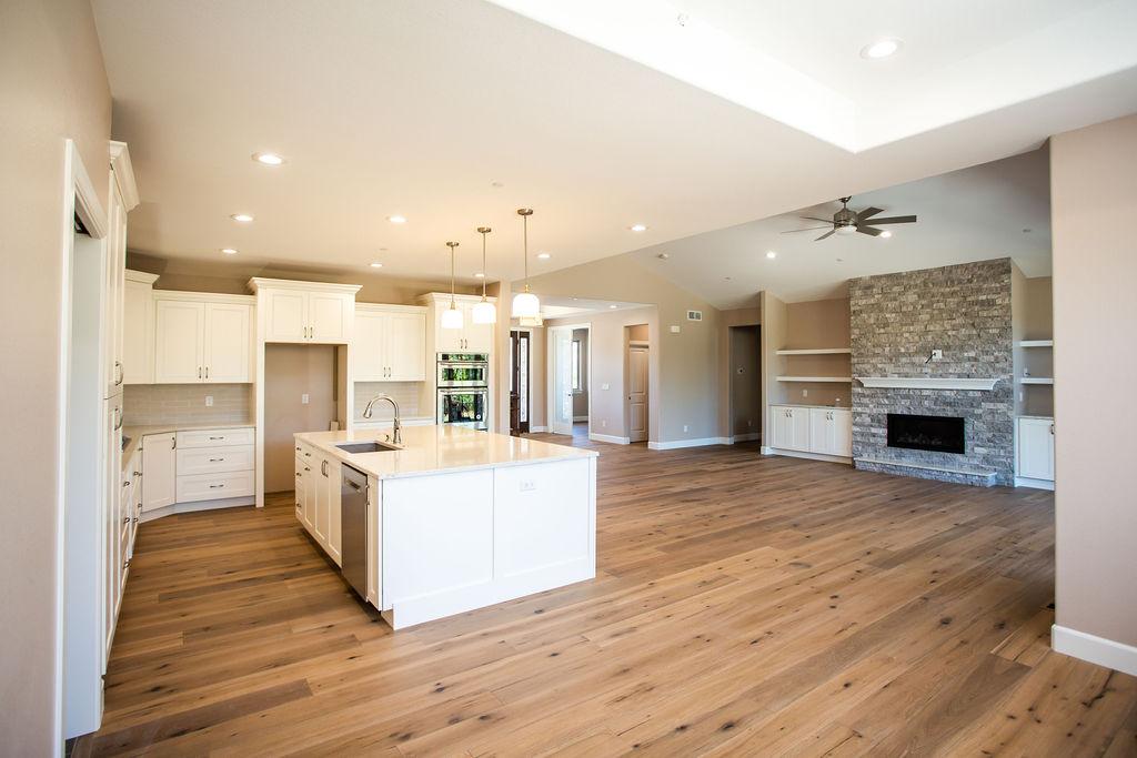 empty white-themed kitchen with modern designs