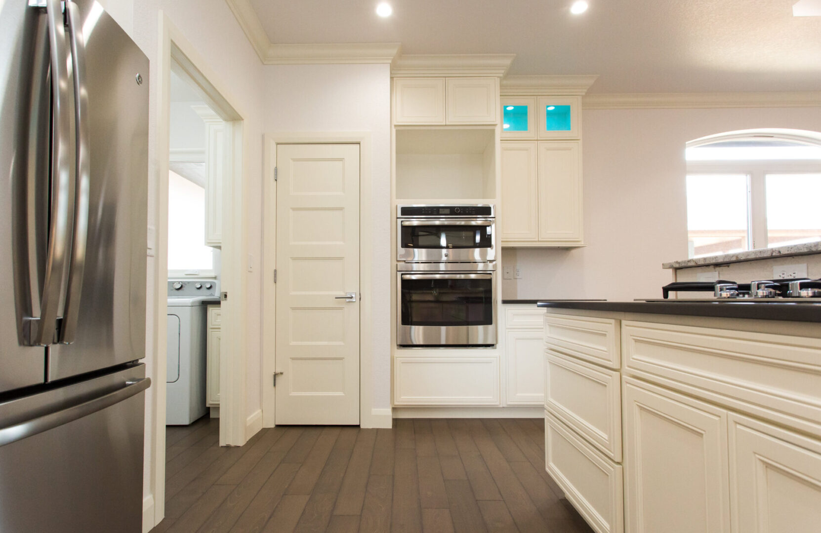 kitchen with cream color theme