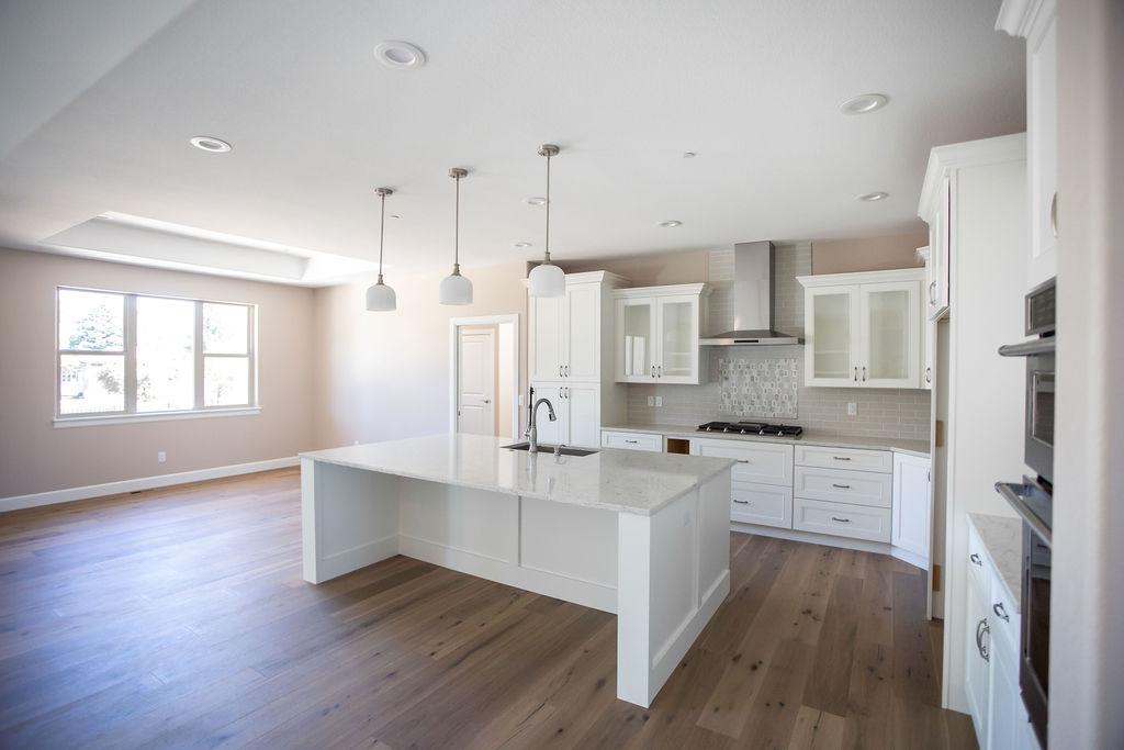 empty white kitchen with modern designs