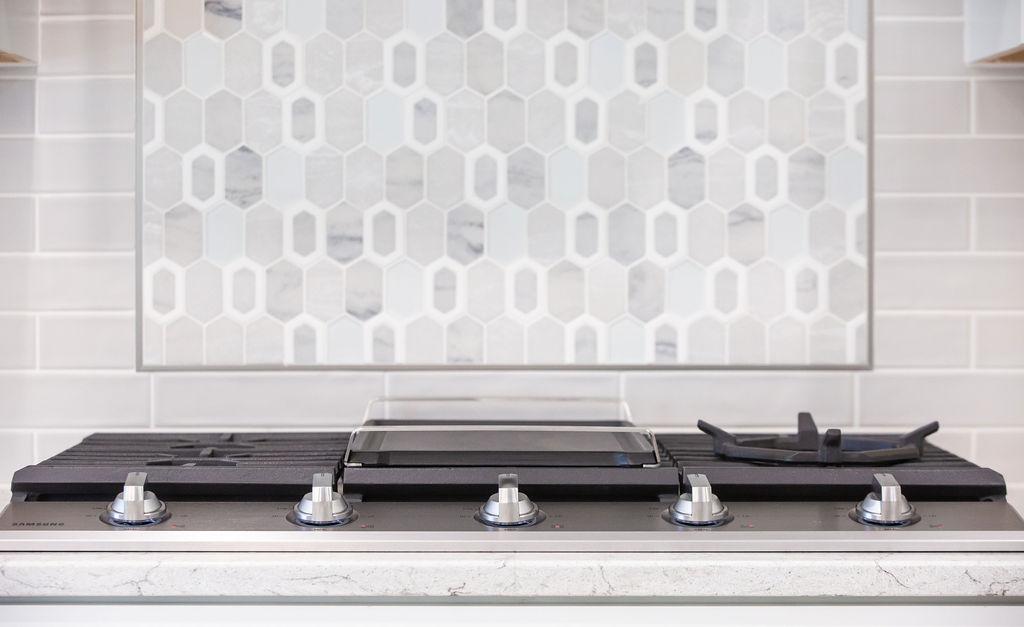 kitchen range with hexagonal design