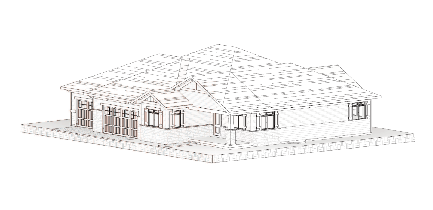 perspective drawing of a house