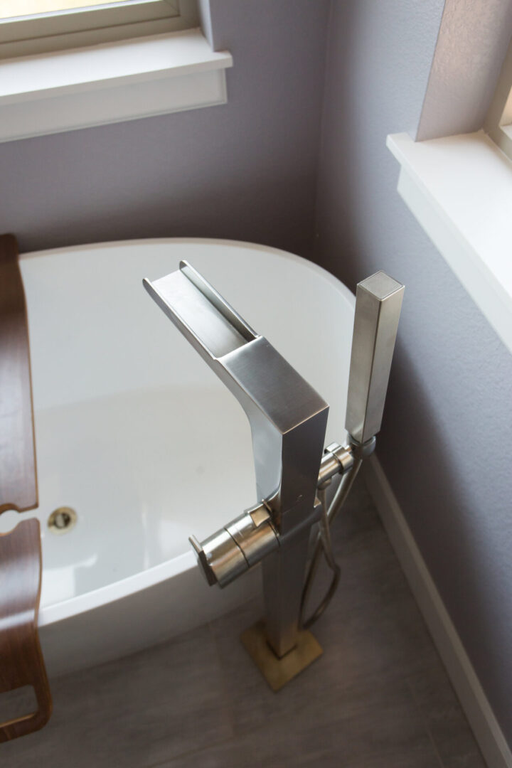 faucet of a bathtub