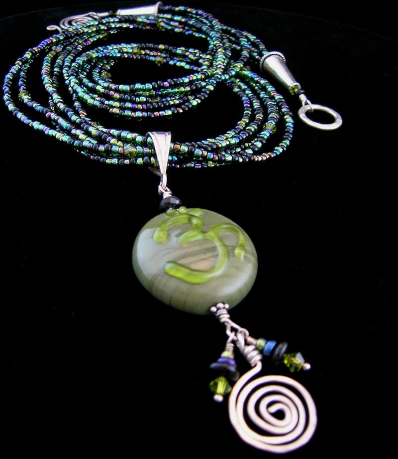 Olivine OM Multistrand Necklace