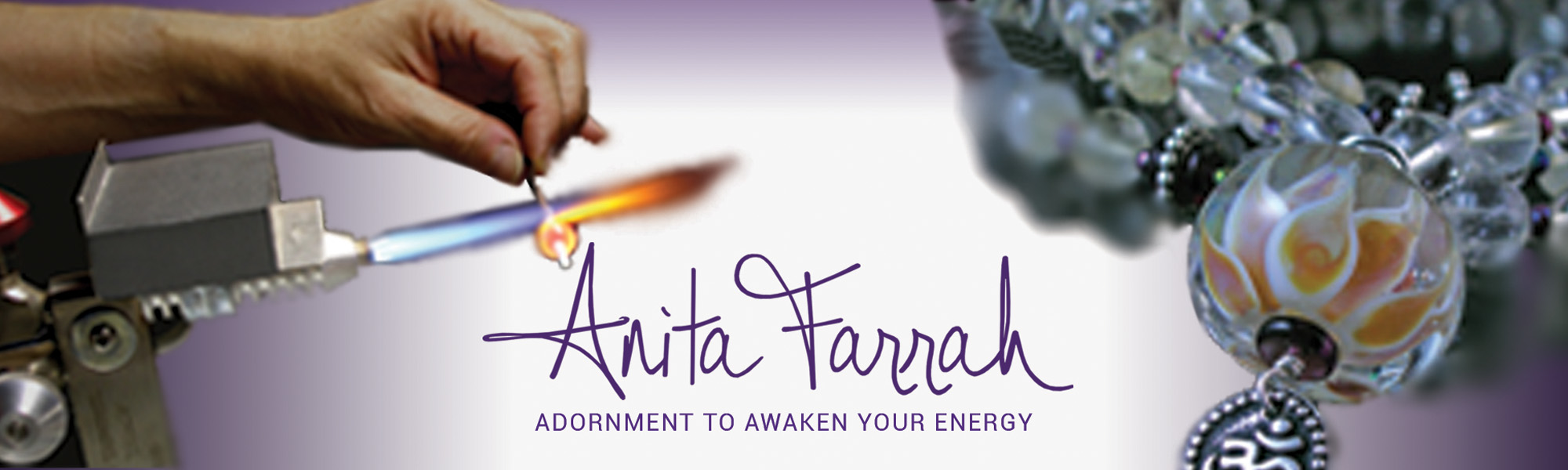 Anita Farrah – Torchworked Glass & Metal Jewelry Logo