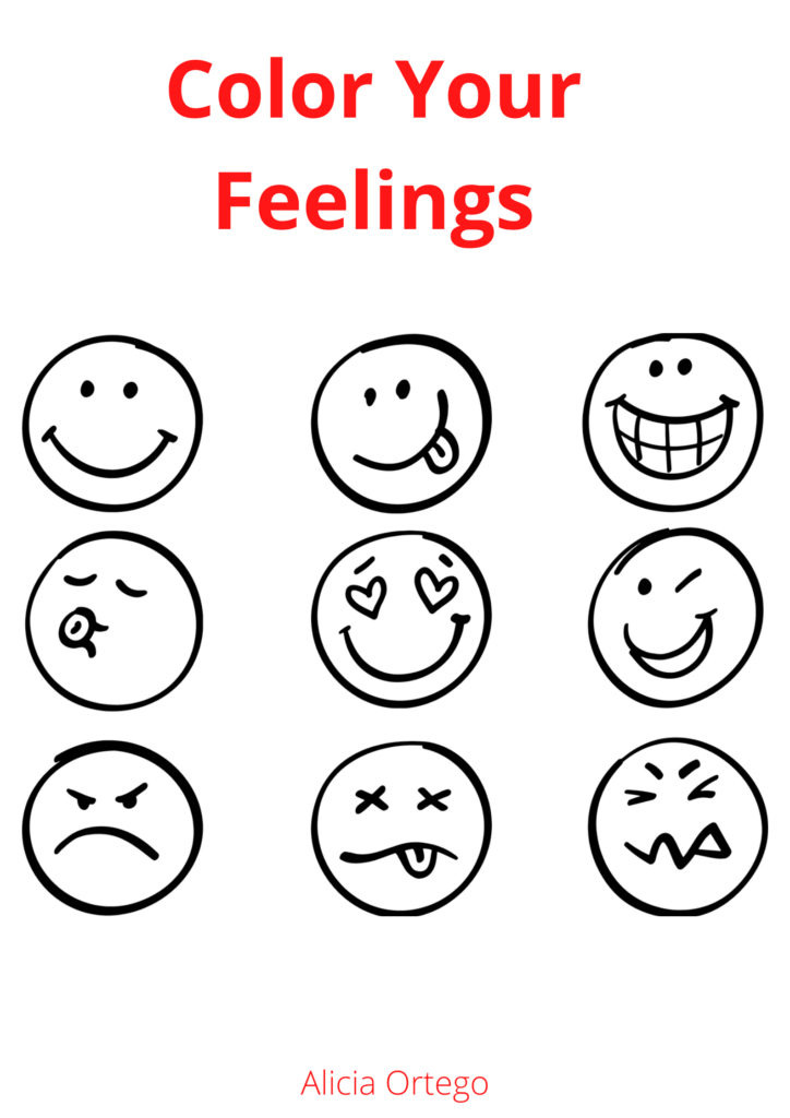 coloring feelings PDF