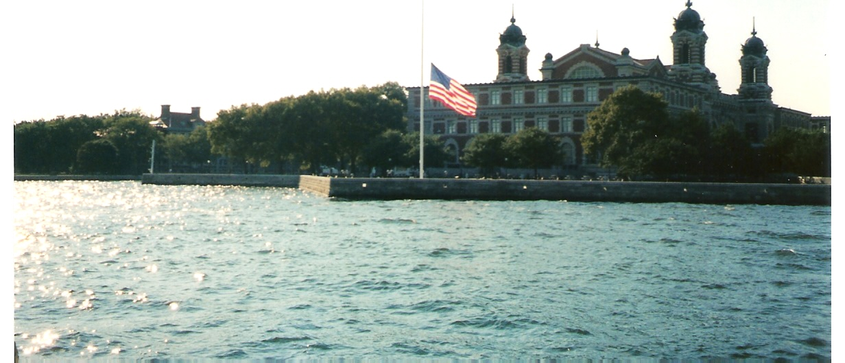 Flag at Half-Staff Ellis Island after the attack
