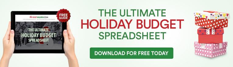 Holiday budget spreadsheet