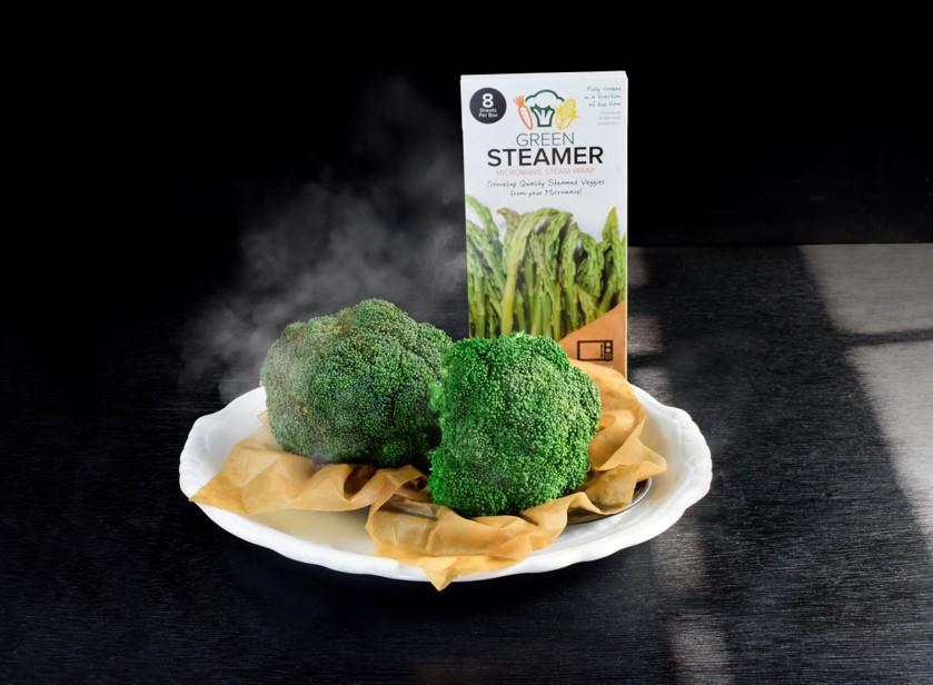 green steamer & broccolli