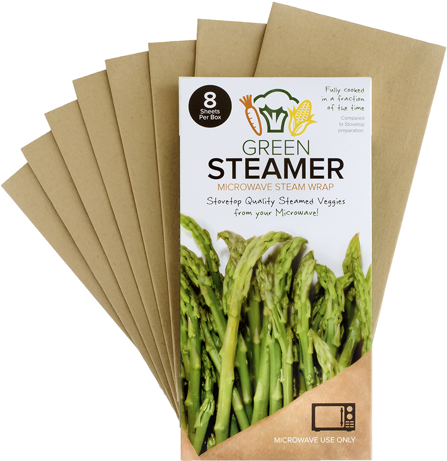 green steamer packages