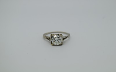 Bailey Banks And Biddle Fine Art Deco 2 70 Carat Diamond And Platinum Ring