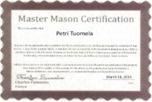 master mason certificate