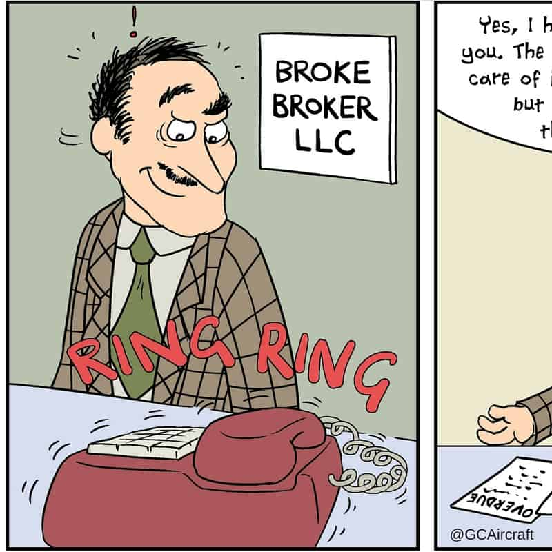 Three Aircraft Sales Scams – Beware of Broke Brokers!