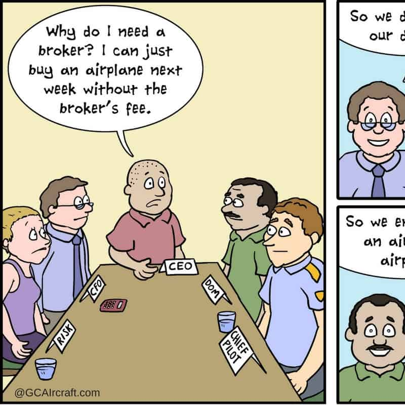 Why do I need an aircraft broker?