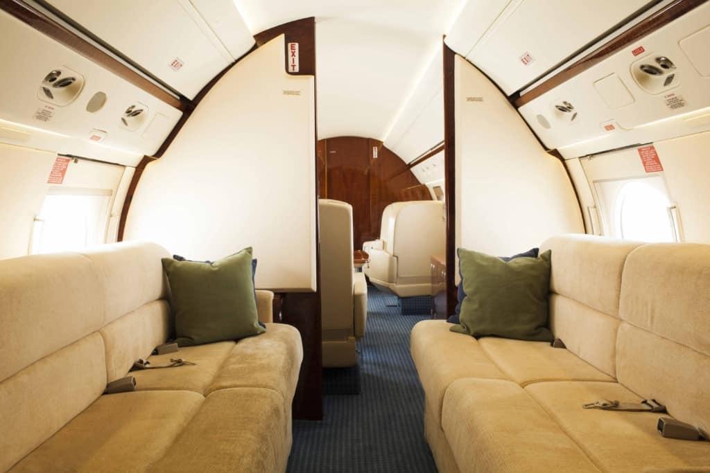 Gulfstream IV Interior_Aft-to-Fwd