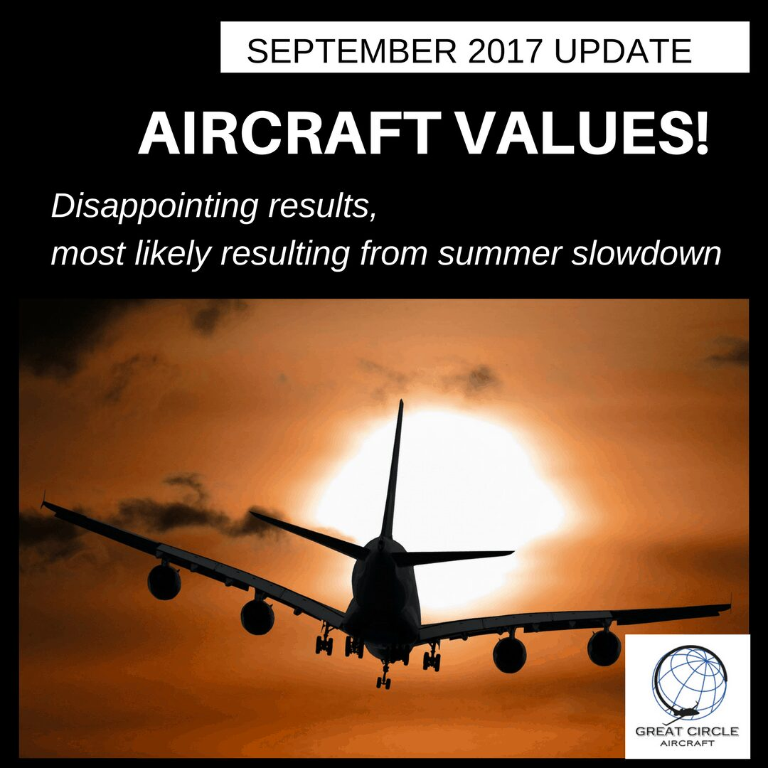 September Aircraft Values