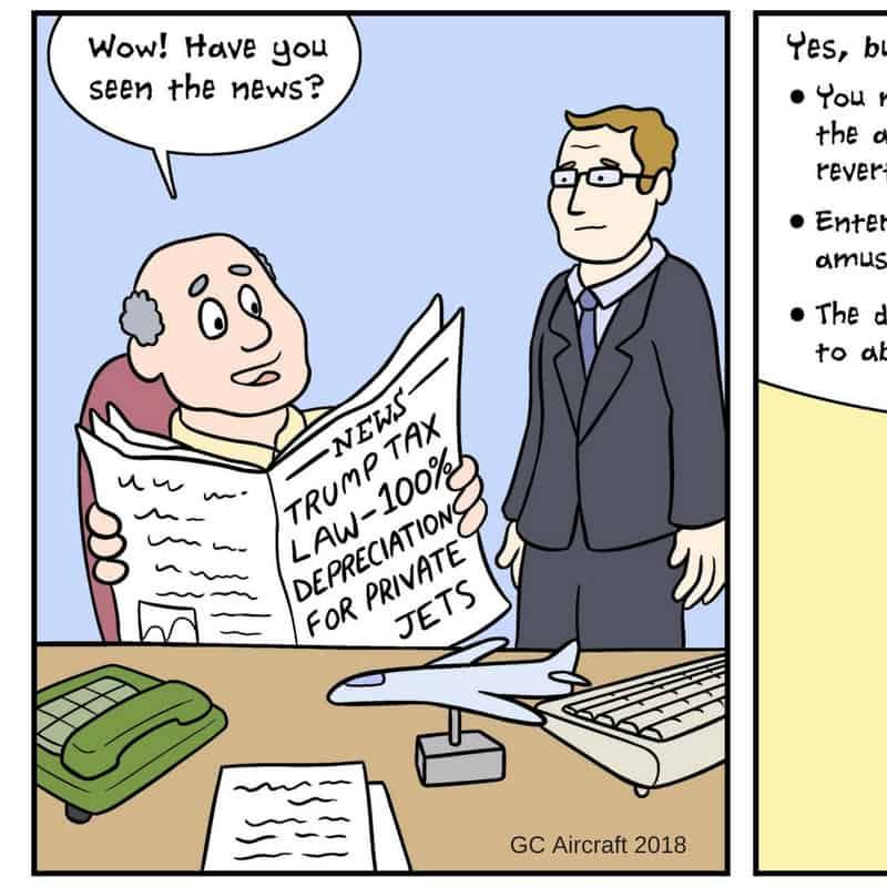Cartoon – Trump Aircraft Depreciation Changes