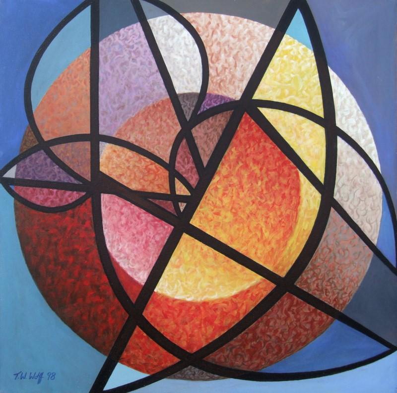 "October 36"" x 36"" Acrylic on canvas"