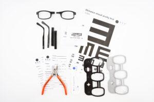DOT Glasses Testing Kit Components