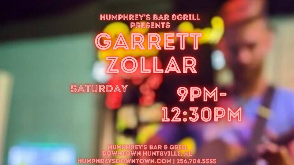Garrett Zollar Saturday Night at Humphrey's