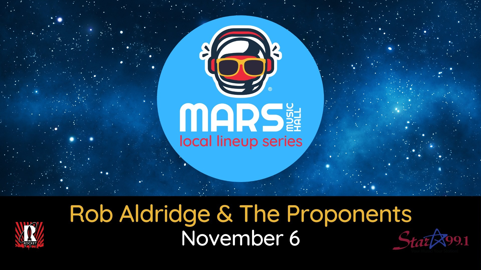 Rob Aldridge & the Proponents at Mars Music Hall