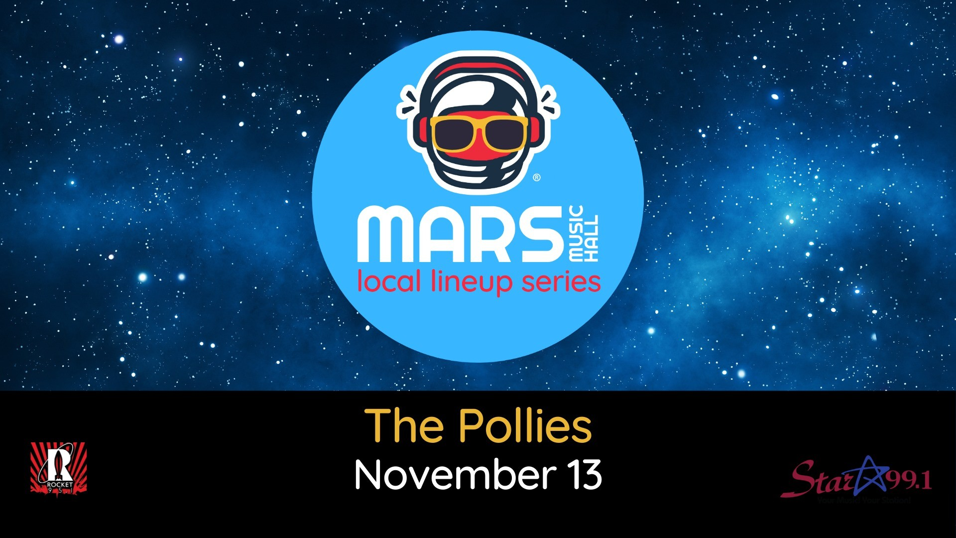 The Pollies at Mars Music Hall