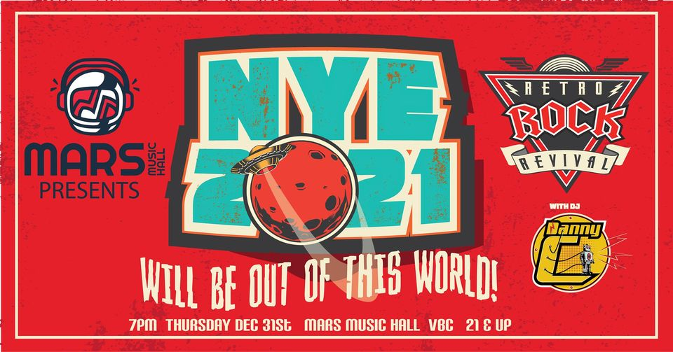 2020 New Year's Eve Party w/ Retro Rock Revival & DJ Danny C