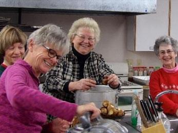 Grandparents in the kitchen