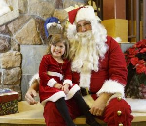 Santa Claus and a Child