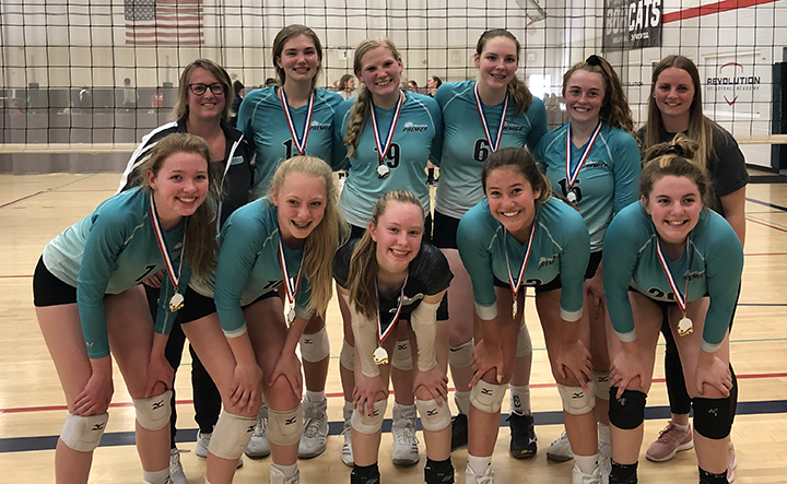 U15 team teal pic first place