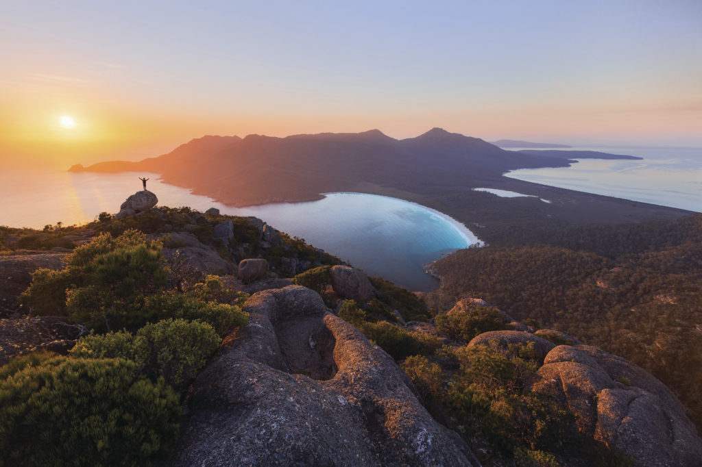Wine Glass Bay - Image courtesy of Tourism Tasmania & Daniel Tran, All Rights Reserved