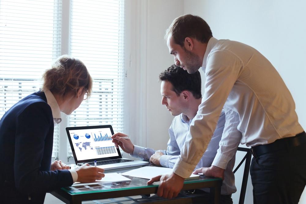 Team analyzing data