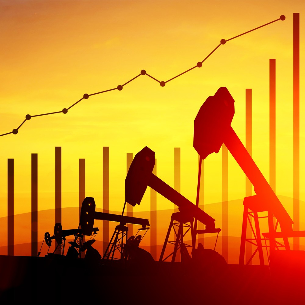 Oil wells and data graph
