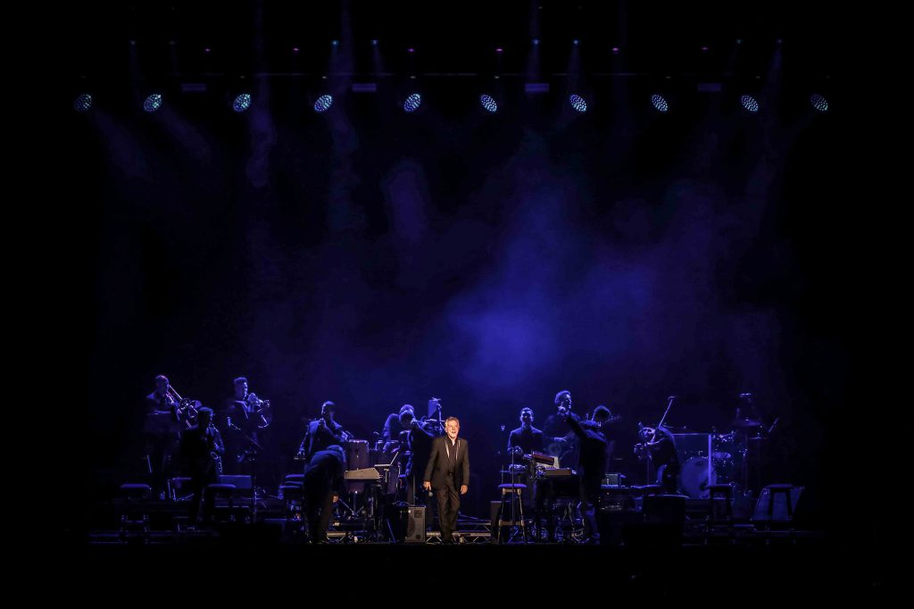 Frankie Valli live onstage with a full band