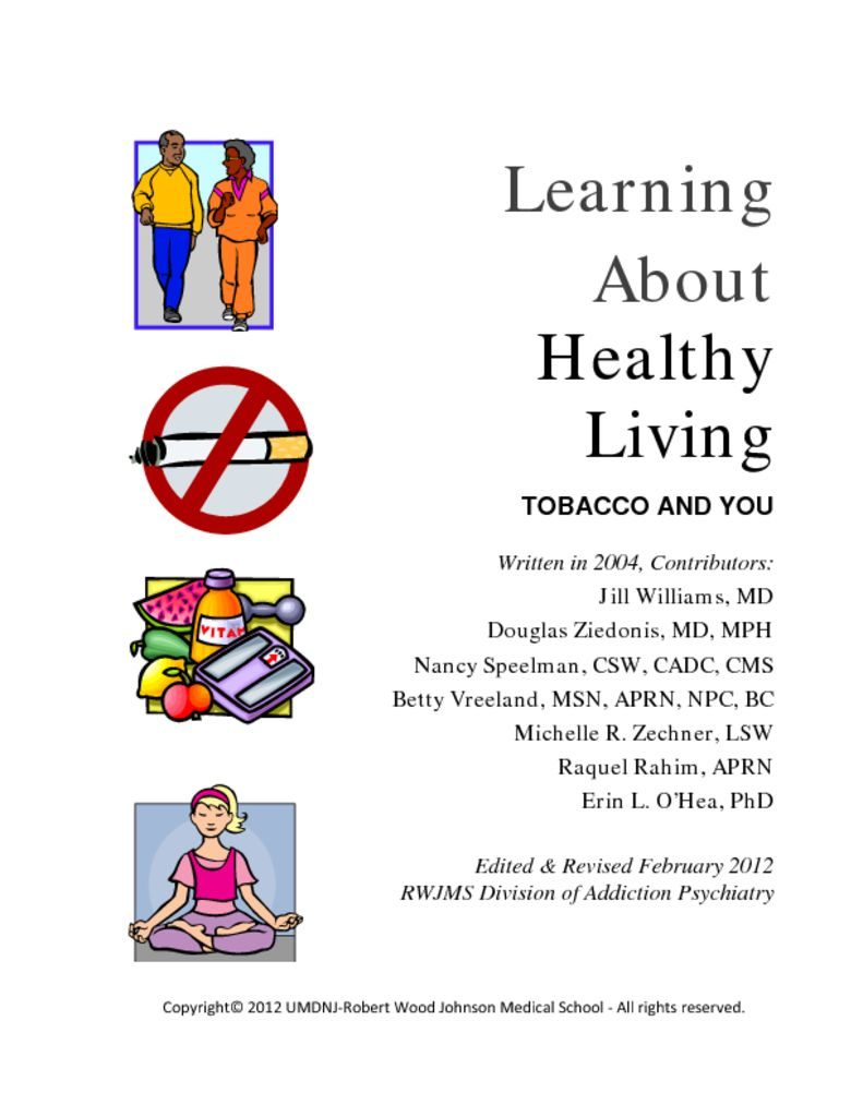 thumbnail of Learning about Healthy Living Manual 2012 Update