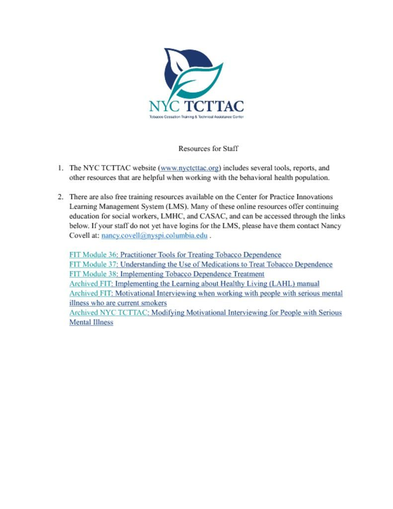 thumbnail of TCTTAC-Resources-for-Staff