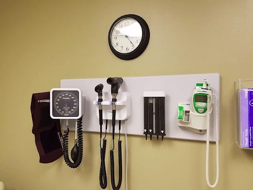 Instruments used in a doctor's office