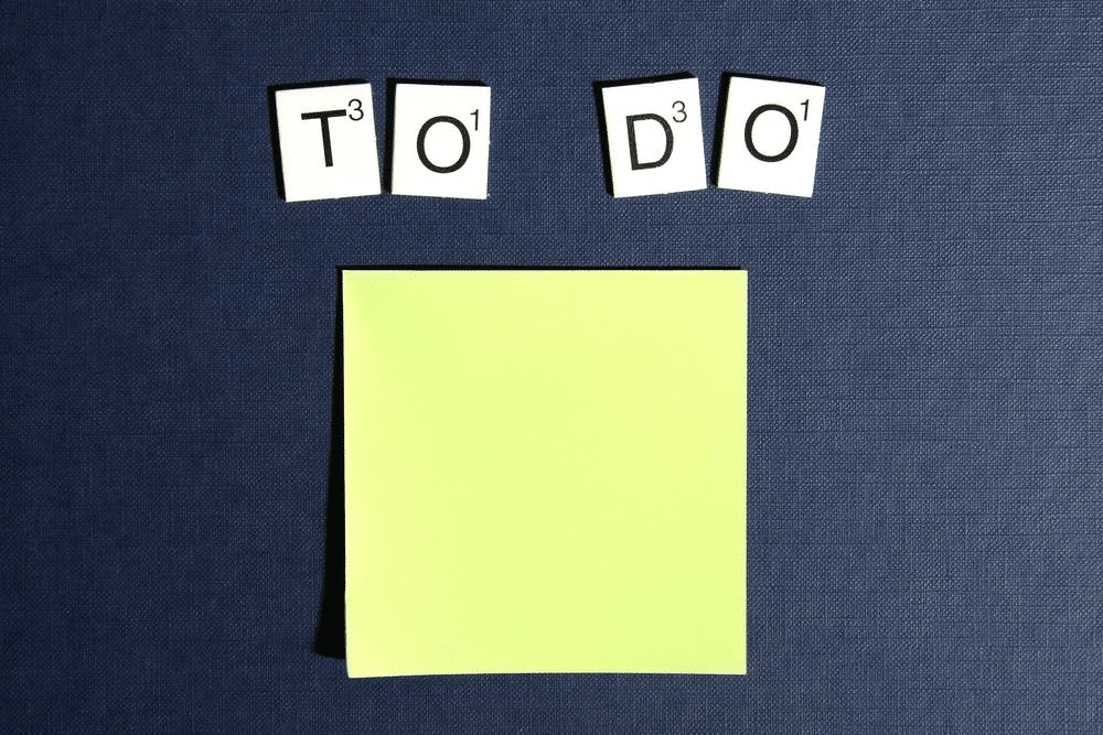 to do list and letters