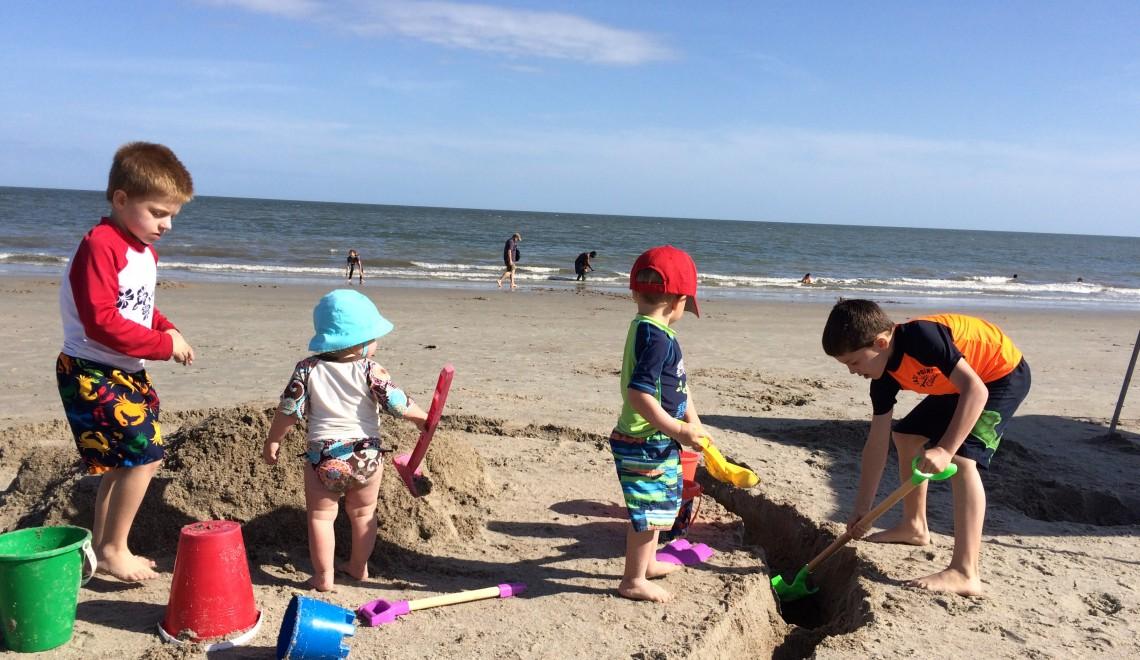 wolf kids beach