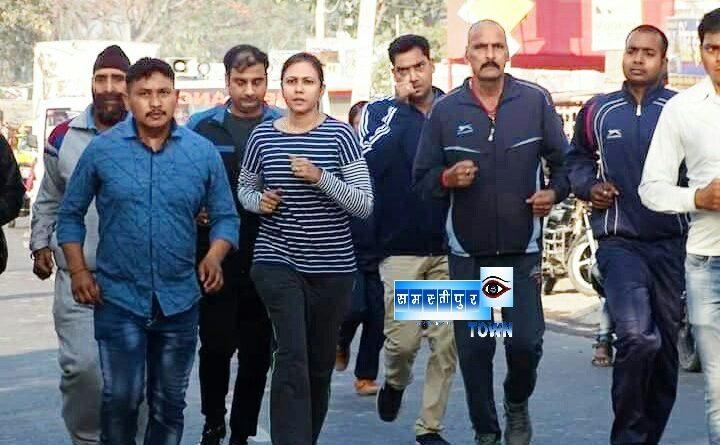 एसपी हरप्रीत कौर ने दौड़ कर बढ़ाया पुलिस का हौंसला, कहा पुलिस के लिए फिटनेस जरूरी समस्तीपुर Town