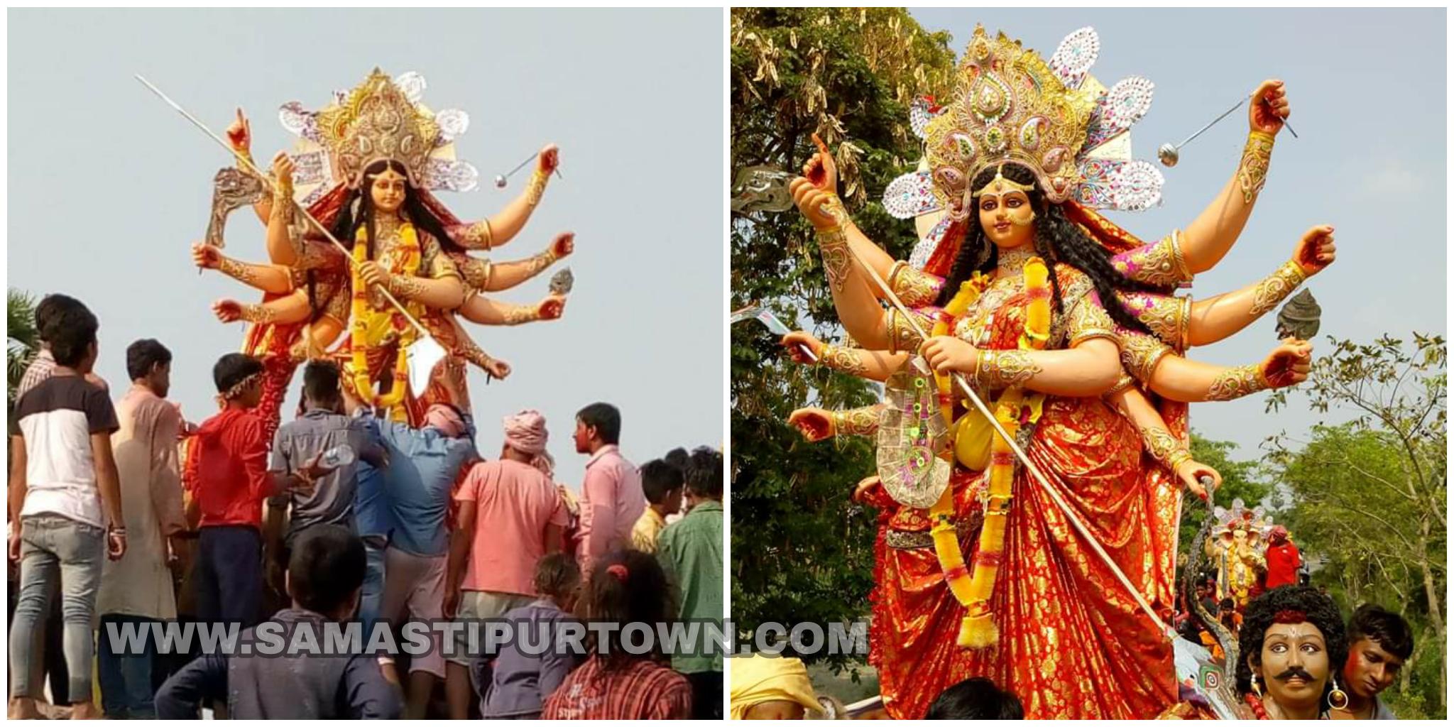 भक्तों के अश्रुधार के बीच हुई माता की भव्य विदाई समस्तीपुर Town