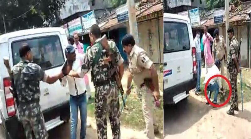 पुलिस की करतूत, मोटर साईकिल की चाभी निकालकर देने से मना करने पर बेरहमी से पिटाई के बाद पैर पर गिरवाया समस्तीपुर Town