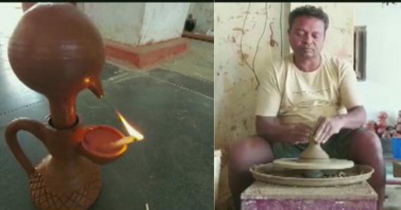 चौथी पास कुम्हार ने बनाया 24 घंटे तक लगातार जलने वाला 'मैजिक दीया', मिल रहे हैं कई ऑर्डर समस्तीपुर Town