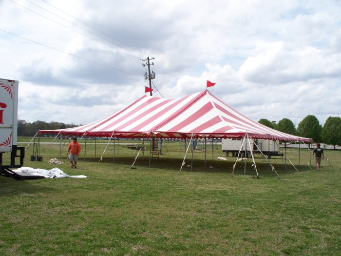 40x60 Red/White Pole Tent