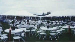 White Samsonite Chairs