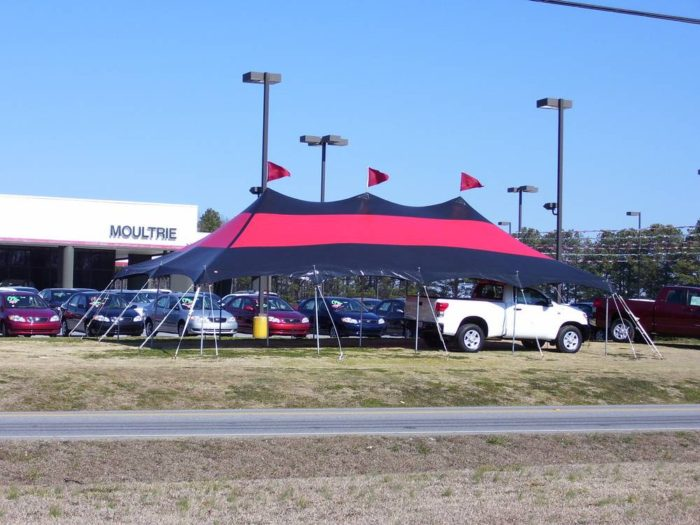 20x40 Red and Black Pole Tent