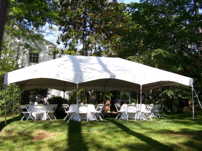 20x30 White Frame Tent