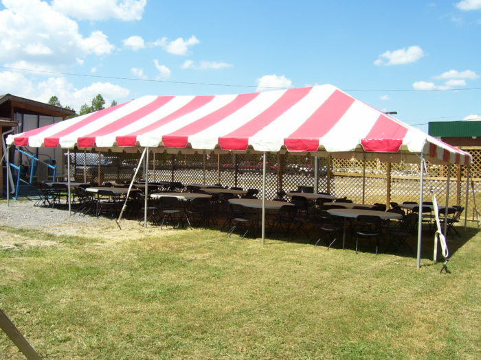 20x40 Red/White Pole Tent